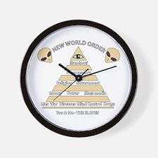 NWO conspiracy Wall Clock