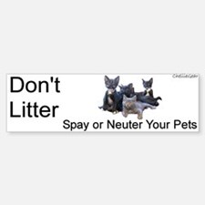 """""""Don't Litter"""" Bumper Bumper Bumper Sticker"""