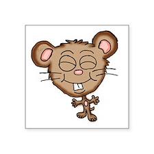 "Cute mouse 2a Square Sticker 3"" x 3"""