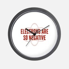 Electrons Are So Negative Wall Clock