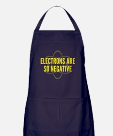 Electrons Are So Negative Apron (dark)