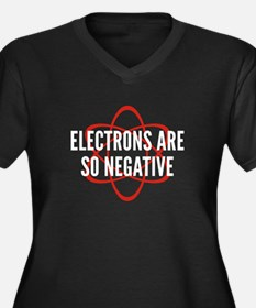 Electrons Are So Negative Women's Plus Size V-Neck
