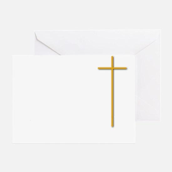 John 16-33 Yellow Cross White Letter Greeting Card
