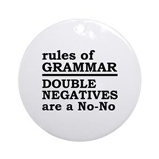 Rules Of Grammar Ornament (Round)