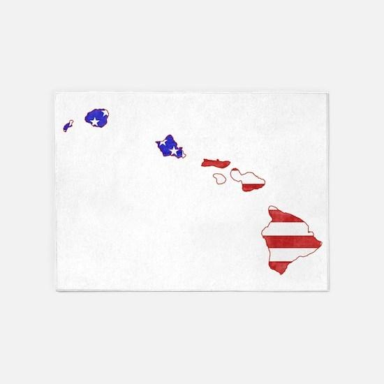 Hawaii Flag 5'x7'Area Rug