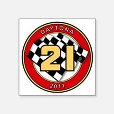 "DAYTONA 2011- 21 Square Sticker 3"" x 3"""
