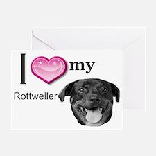Ilovemyrottweiller4 Greeting Card