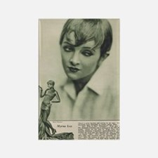 Myrna Loy 1925 Rectangle Magnet