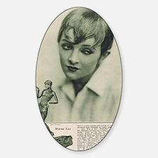 Myrna Loy 1925 Sticker (Oval)