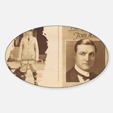 Tom Mix Western Star 1922 Sticker (Oval)