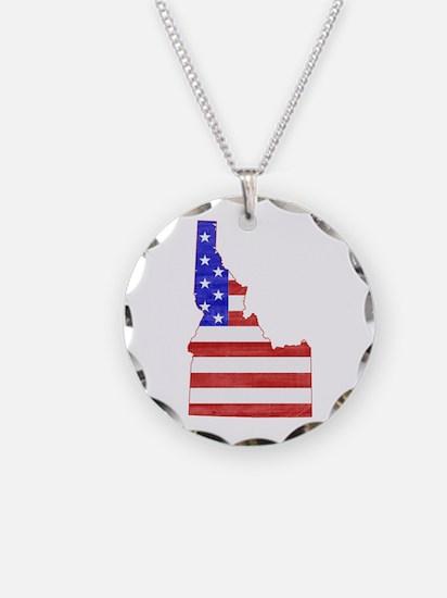 Idaho Flag Necklace