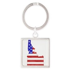Idaho Flag Square Keychain