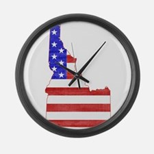 Idaho Flag Large Wall Clock