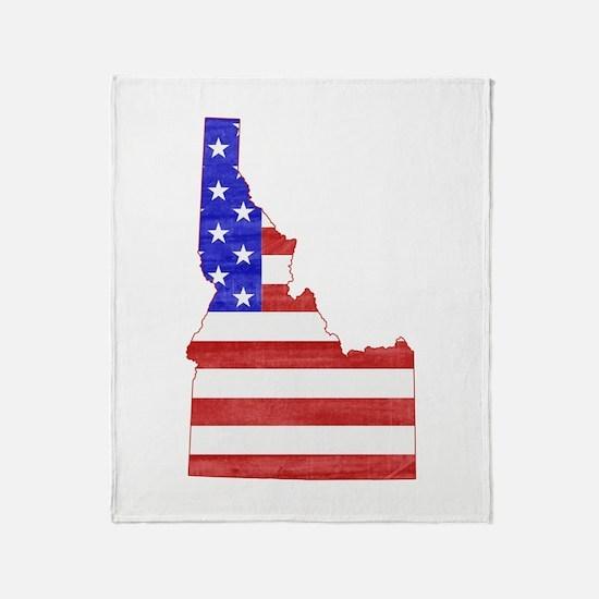 Idaho Flag Throw Blanket