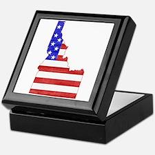 Idaho Flag Keepsake Box