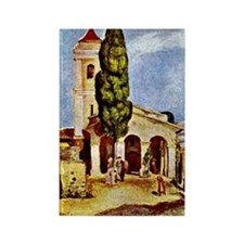 Renoir: A Church at Cagnes Rectangle Magnet