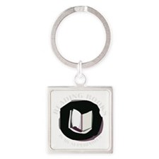 reading books is my superpower for Square Keychain