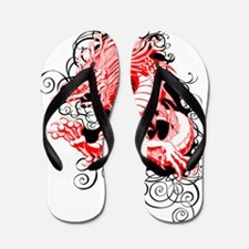 Misty Dragon red black Flip Flops