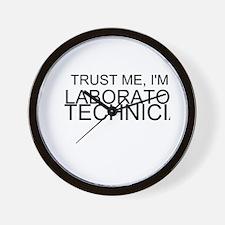 Trust Me, Im A Laboratory Technician Wall Clock