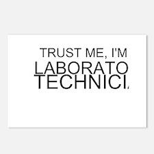 Trust Me, Im A Laboratory Technician Postcards (Pa