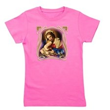 Mary was Pro-Life (square) Girl's Tee