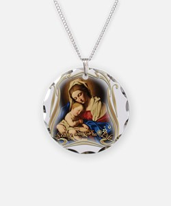 Mary was Pro-Life (square) Necklace