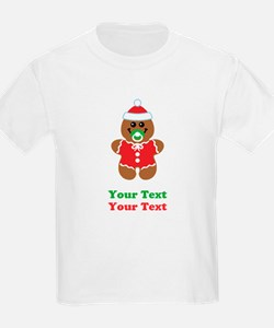 Personalize Gingerbread Santa Baby T-Shirt