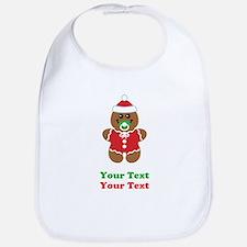 Personalize Gingerbread Santa Baby Bib