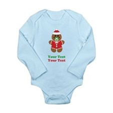 Personalize Gingerbread Santa Baby Baby Outfits
