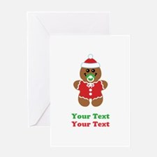 Personalize Gingerbread Santa Baby Greeting Card