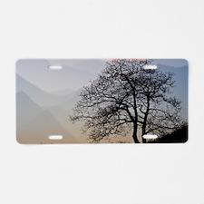 TreeSunsetRidges_LargePoste Aluminum License Plate