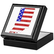 Indiana Flag Keepsake Box