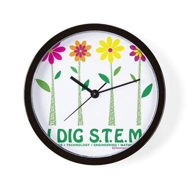 Wall Clock Floral Design : Flower design stem wall clock by admin cp