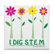 Flower Design STEM Tile Coaster