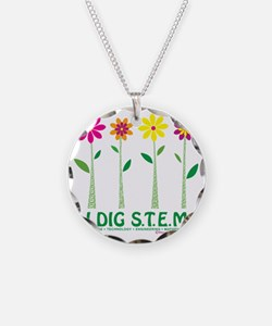 Flower Design STEM Necklace