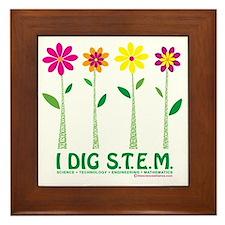 Flower Design STEM Framed Tile