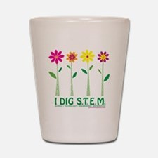 Flower Design STEM Shot Glass