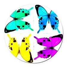 butterflies for store Round Car Magnet