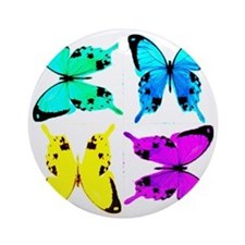 butterflies for store Round Ornament