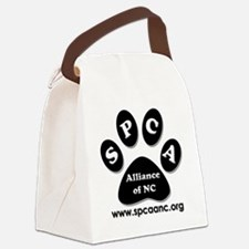 Paw and Initials 2 Canvas Lunch Bag