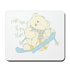 Winter Ski Bear Mousepad