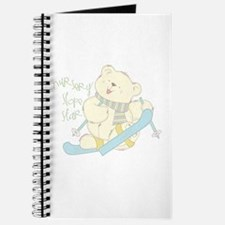 Winter ski Bear Journal & notebook