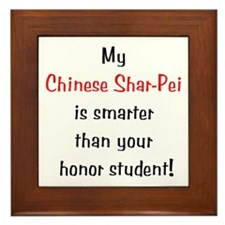 My Chinese Shar-Pei is smarter... Framed Tile