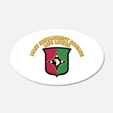 DUI - 101st Sustainment Brigade With Text Wall Decal