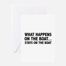 What Happens On The Boat... Greeting Card