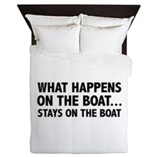 What Happens On The Boat... Queen Duvet