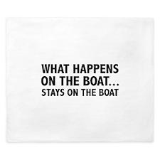What Happens On The Boat... King Duvet