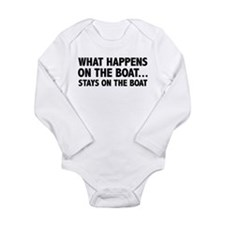 What Happens On The Boat... Onesie Romper Suit