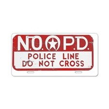 NOPD SIGN red zazzle.gif Aluminum License Plate
