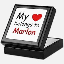 My heart belongs to marlon Keepsake Box